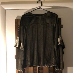 Brand new Rachel Roy size medium shiny charcoal